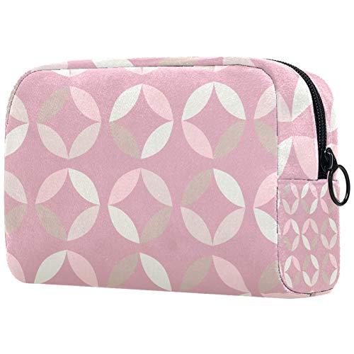 Bolsa de aseo con cremallera, bolsa de maquillaje reutilizable de gran capacidad, bolsa de viaje con patrón abstracto Vector sin costuras para adolescentes y mujeres