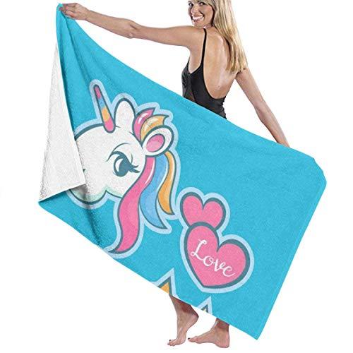 Toalla de playa grande Rainbow Love, adecuada para hotel, piscina, gimnasio, playa, natural, suave, secado rápido L130cm x W80cm/51'Lx31' W