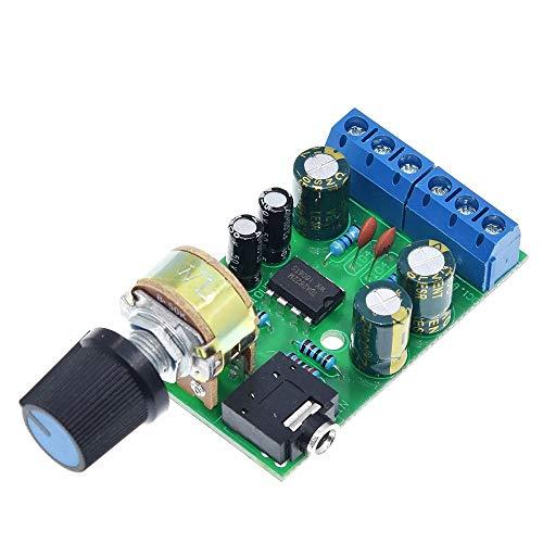 PengCheng Pang TDA2822 TDA2822M Verstärker-Brett DC 1.8-12V 2.0-Kanal-Stereo-AUX-Audio-Verstärker-Modul AMP mit 50K Ohm Potentiometer
