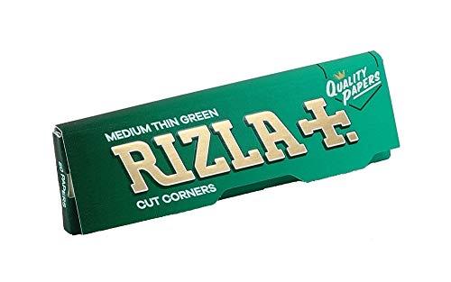 Rizla Green regular Zigarettenpapier Grün Papers Cut Corners 25 Booklets/Heftchen