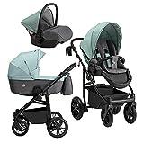 Juego completo de silla de paseo silla de bebé 3en1 X-Pero de Lux4kids XP04 2en1 sin asiento