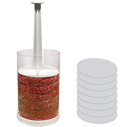 Evelots Hamburger Press-Perfect Size Burgers Every Time-Freeze-Set/8 Dividers