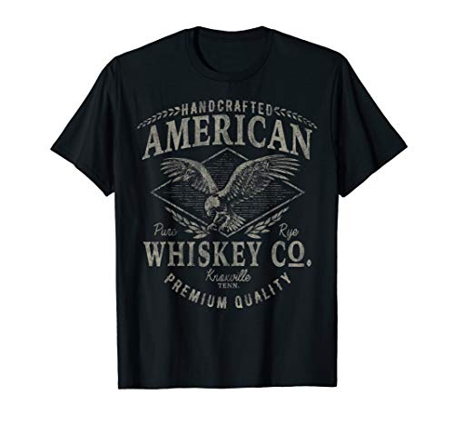Handcrafted American Whiskey Eagle Vintage Graphic T-Shirt