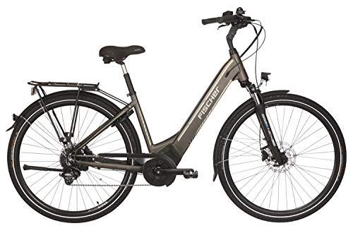 Fischer E-Bike City CITA 6.0i, platingrau matt, 28 Zoll, RH 44 cm, Brose Mittelmotor 50 Nm, 36V Akku im Rahmen