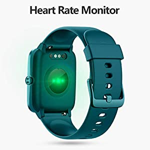 """Lintelek Smart Watch with 1.3"""" LCD Full Touch Screen, Large Screen Fitness Tracker with Heart Rate Monitor, Pedometer, Sleep Tracker, Waterproof Activity Tracker for Men, Women and Gift (Green)"""