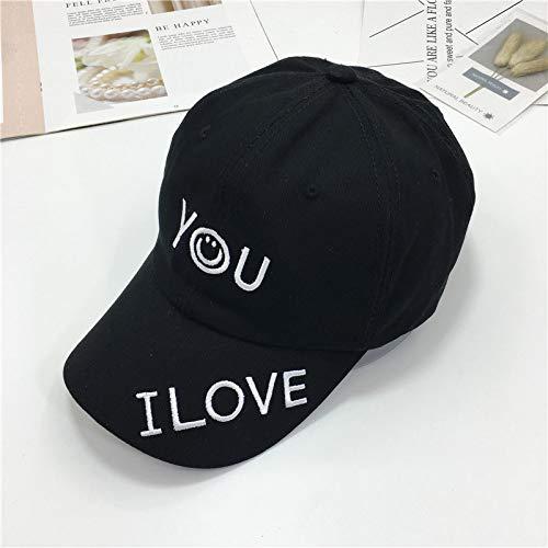 mlpnko Hut personalisierte Stickerei Smiley Flow Baseball Cap Männer und Frauen wild lässig Sonnenschirm Kappe schwarz einstellbar