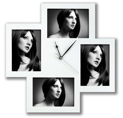 Zep FC002 Horloge Photo Murale Blanc