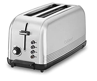 Cuisinart CPT-2500 Long Slot Toaster, Silver, 2-slice long slot