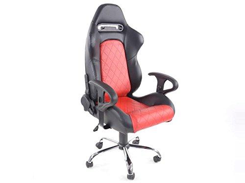 FK sport stoel kantoor draaibare stoel Detroit excecutive stoel bureaustoel zwart/rood FKRSE011511