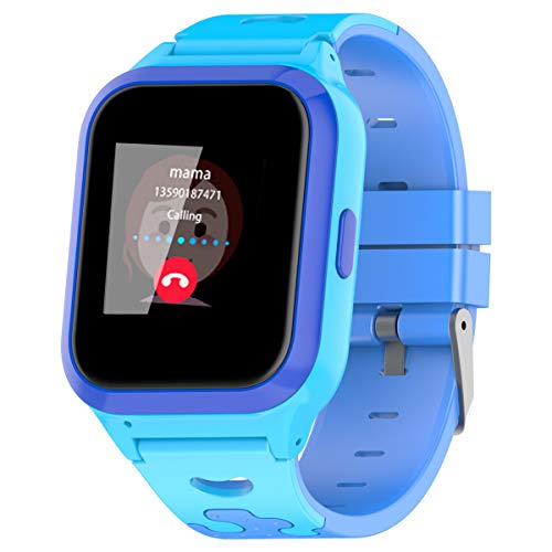 Vowor Kids Smart Watch, 4G WiFi GPS LBS Tracker SOS Emergency Call Video Chat Children Smartwatches, IP67 Waterproof Phone Watch for Boys Girls Age 3Years+, Compatible with Android/iPhone iOS (Blue)