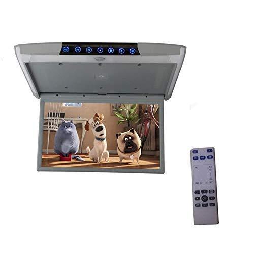 Soporte de techo para monitor de techo de coche, 1080P, 15,6 pulgadas, Android 6.0, HD, vídeo IPS, WiFi, HDMI, USB, SD, FM, Bluetooth, altavoz, color gris