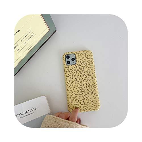 Henraly - Carcasa para iPhone 11, diseño de leopardo, suave y cálida, para iPhone 11 Pro Max 7, 8 Plus X, XR XS Max se 2020, moda invierno Kl352-2-2-For-Iphonexr