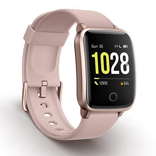 Vigorun Smartwatch Fitness-Tracker, Fitness Armband mit Pulsmesser Kalorienzähler-Tracker, Aktivitätstracker IP68 Wasserdichter Sportuhr Schrittzähler Kompatibel mit iOS, Android für Damen Herren