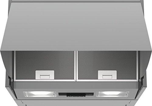 Bosch DEM66AC00 Serie 2 Zwischenbauhaube / B / 60 cm / Silber / wahlweise Umluft- oder Abluftbetrieb / Drucktastenschalter / 3 Leistungsstufen / Metallfettfilter (spülmaschinengeeignet)