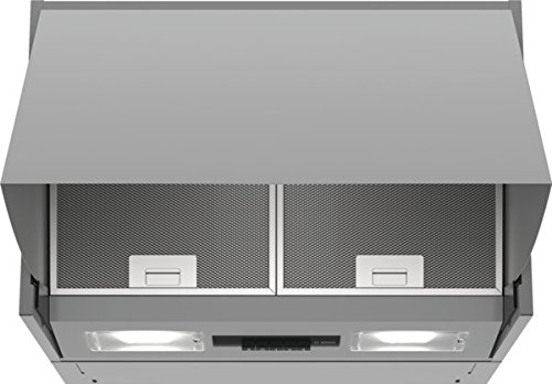 Bosch DEM66AC00 Serie 2 Wandesse / B / 60 cm / Silber / wahlweise Umluft- oder Abluftbetrieb / Drucktastenschalter / Intensivstufe / Metallfettfilter (spülmaschinengeeignet)