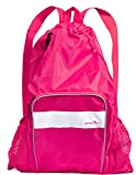 Athletico Mesh Swim Bag - Mesh Pool Bag With Wet & Dry Compartments for Swimming, the Beach, Camping and More (Pink)
