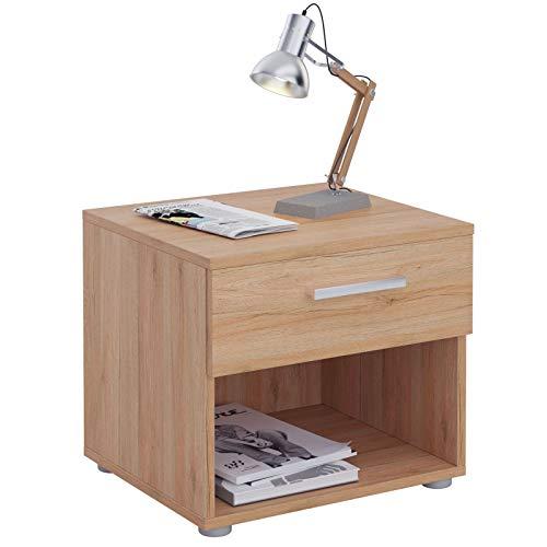 CARO-Möbel Nachttisch Nachtschrank Nachtkommode Mary San Remo, 42 x 38 x 30 cm, mit Schublade und offenem Fach