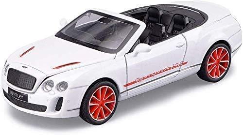 Hyzb Modelo del Coche Modelo del Coche de Bentley Supersport ISR Aleación Aleación 01:32 de Coches de Juguete Modelo de simulación de Coches de luz y Sonido Tira del Coche