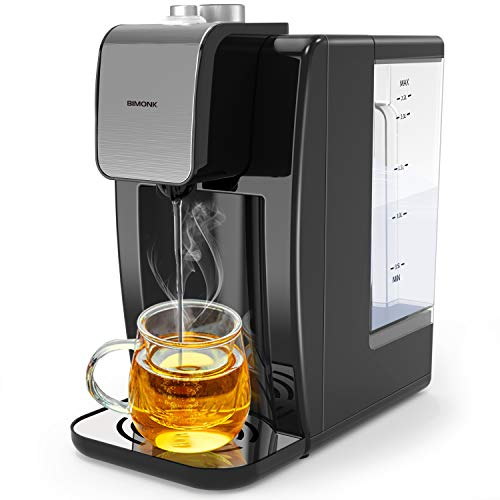 BIMONK 2.2L Instant Hot Water Dispenser with Fast Boiling, Boil-Dry & Overheating Protection, Adjustable Thermostat, Ideal for Home Kitchen and Office of Making Coffee Tea - 2200W