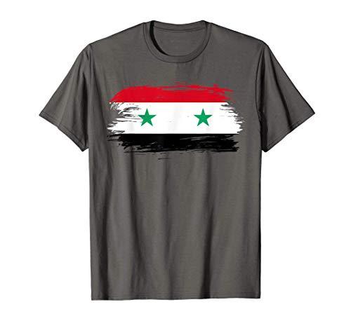 Syrien Flagge – Syrien Fußball Fahne - Syria Wappen T-Shirt