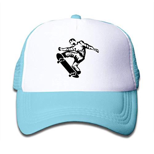 Skateboard Skater On Boys and Girls Trucker Hat, Youth Toddler Mesh Hats Baseball Cap