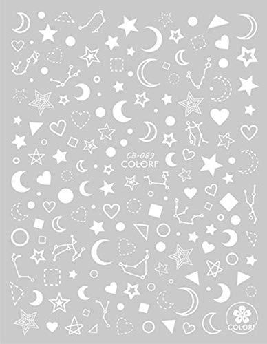 ZJIUYE Autocollant d'ongle Fleur 3D Nail Autocollant Lune Transparente DIY Autocollant Stickers Conseils Conception De Manucure Conseils Adhésifs Art pour Ongles B