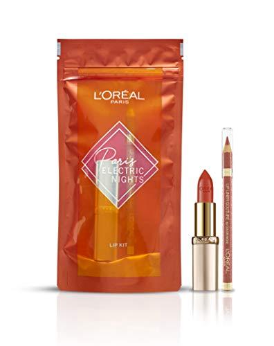 L'Oréal Paris - Coffret Maquillage Lèvres Nude - 1 Rouge à Lèvres Color Riche - Teinte: Beige àNu (630) + 1 Crayon à Lèvres Nude - Teinte: Beige à Nu (630)