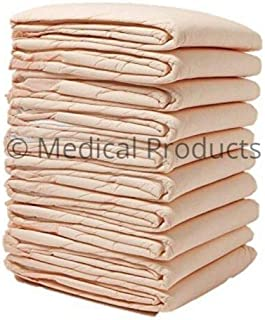 Wave Medical Disposable Incontinence Pads (100-Count) Bed Covers for Women, Men, Elderly, Kids | 6-Layer Super Absorbent P...