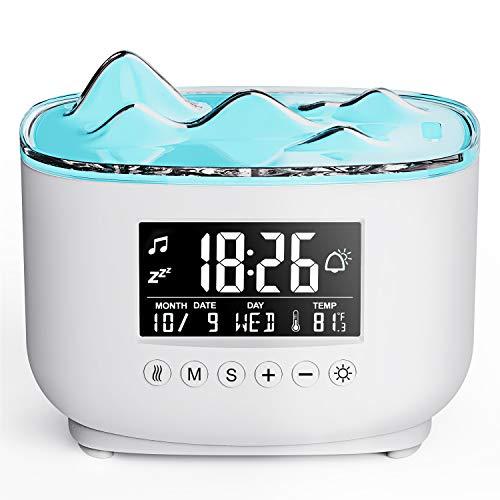SALKING Aroma Diffuser mit Digitaler Wecker, 300ML Diffusor für Ätherische Öle, BPA-Free Aromatherapie Diffusor mit Einstellbarem Nebelmodus, Automatisch Power-Off Duftlampe für Zuhause Büro Yoga
