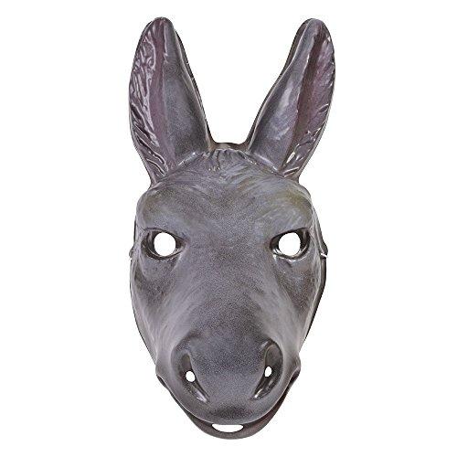 Bristol Novelty PM166 Donkey Plastic Mask, Unisex-Adult, Grey, One Size