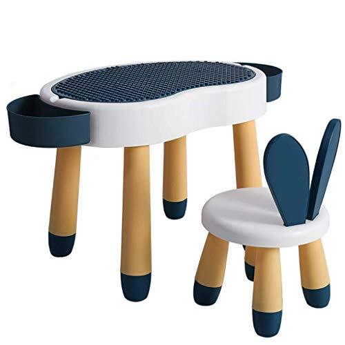 Wohngeräte Tisch Stuhl Sets Kinder Schreibtisch Stuhl Set Multifunktionale interaktive Workstation Home Kombinierte Studie Tisch und Stuhl Set 2 in 1 Moderne Kinder Schreibtisch mit Aufbewahrungsbo