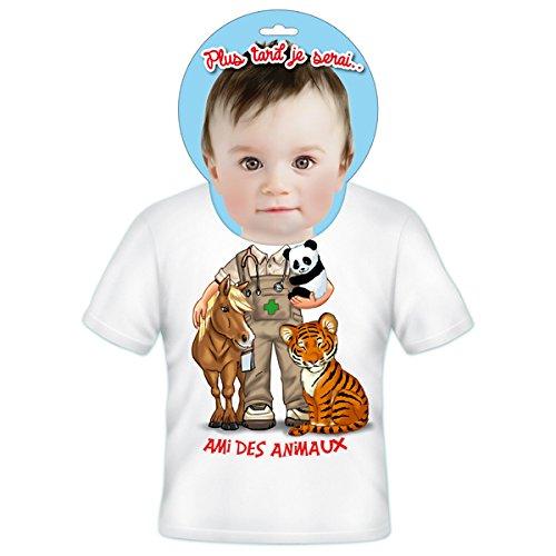 T-Shirt Enfants Plus Tard Je Serais Ami Des Animaux 6 ans