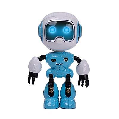 SPACE LION Educational Mini Pocket Robot for Kids Interactive Dialogue Conversation,Voice Control, Chat Record, Singing& Dancing (U Robot-Sky Blue)