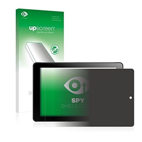 upscreen Spy Shield Clear Blickschutzfolie / Privacy für Odys Windesk 9 plus 3G V2 (Sichtschutz ab 30°, Kratzschutz, selbstklebend)