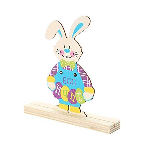 Sue Supply Oster Dekorationen Bunny Holztischdekoration Raumdekor Osterthema Holzschild, Büros, Klassenzimmer, Party, Holz Ostern Hase Dekofigur Osterhasen Tischdekoration