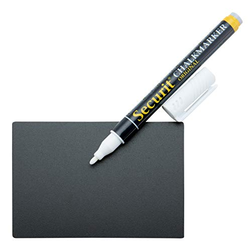 Securit Menu Board Chalk Set includes Chalk Marker - White/ A7 Washable Chalk Tags (Pack of 20)