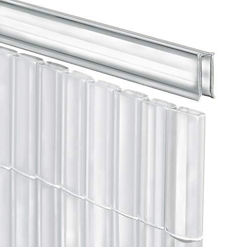 Videx-U-Profil für Sichtschutzmatte Rügen, transparent, 150 cm, Lieferung 2 x 75cm