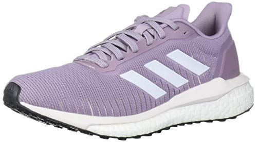 adidas Women's Solar Drive 19 W Running Shoe, Soft Vision/FTWR White/Orchid Tint, 11 Standard US Width US