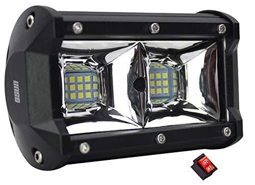 Faro LED Con 72W Luz de Alta intensidad con estrobo 18 LED Tipo 3030