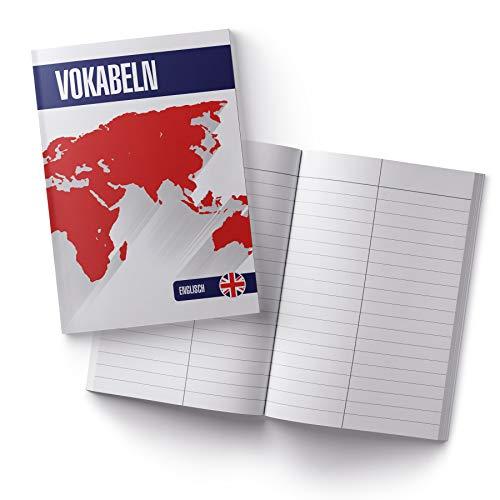 itenga Vokabelheft Englisch Schule Schulbedarf Notizbuch Lernen Vokabeln Fremdsprache DIN A5