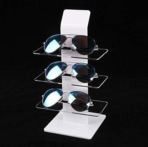 2020 YXWEI Acrílico Sunglasse Soporte Lentes de los vidrios sostenedor de la exhibición Los titulares Réplica de Cristal Organizador del Estante de joyería (Color : Red)