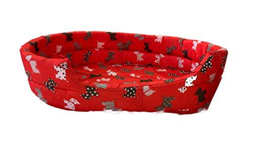 Ducomi Fufy 2 - Lettino per Cani e Gatti in Oxford - Morbida Cuccia per Animali Domestici - Facile da Lavare (XS, M-02)