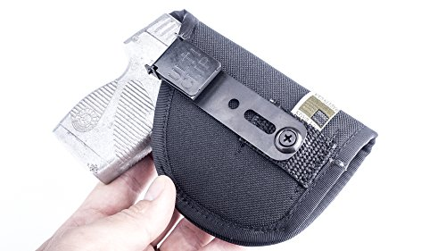 OutBags USA (NCT32-BK-RH) - Nylon IWB Conceal Carry CCW Holster with Comfort Tab Sweat Guard & ULTICLIP. Made in USA. Family Owned & Operated.