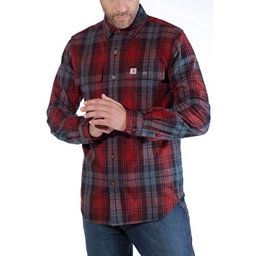 Carhartt Hubbard Slim Fit Camicia di flanella Dark Crimson Large