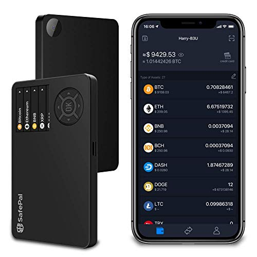 SafePal S1 Cryptocurrency Hardware Wallet, Bitcoin Wallet, Wireless Cold Storage for Multi-Cryptocurrency, Internet Isolated & 100% Offline, Securely Stores Private Keys, Seeds & Digital Assets…