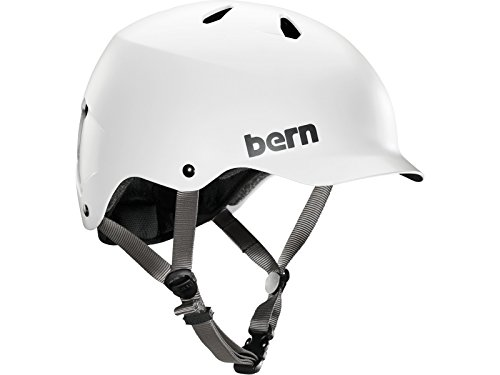 Bern Watts Thin Shell EPS - Casco para Bicicleta BMX, Color Blanco