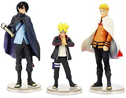 honeyya 3 Piezas/Lote Boruto Naruto Figuras de Próxima Generación Uzumaki Naruto Uchiha Sasuke Boruto Modelo Juguetes Regalos para Niños