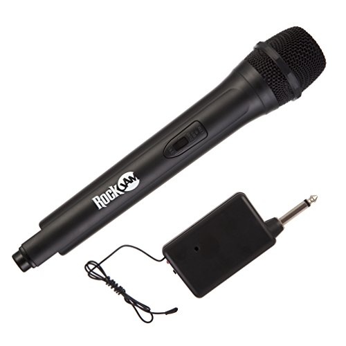 Microfono Senza Fili Rockjam Highfidelity Karaoke e Nero per Casa