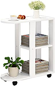 AZHom Living Room Creative Side can Move Few Sofa Side Cabinet Side Table Simple Small Coffee Table Bedside Table Small Table Coffee Table Folding Table  Color