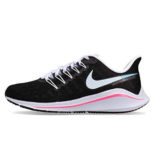 Nike Wmns Air Zoom Vomero 14, Zapatillas de Atletismo Mujer, Multicolor (Black/Hyper Pink/Football Grey/Pink Beam 000), 36.5 EU